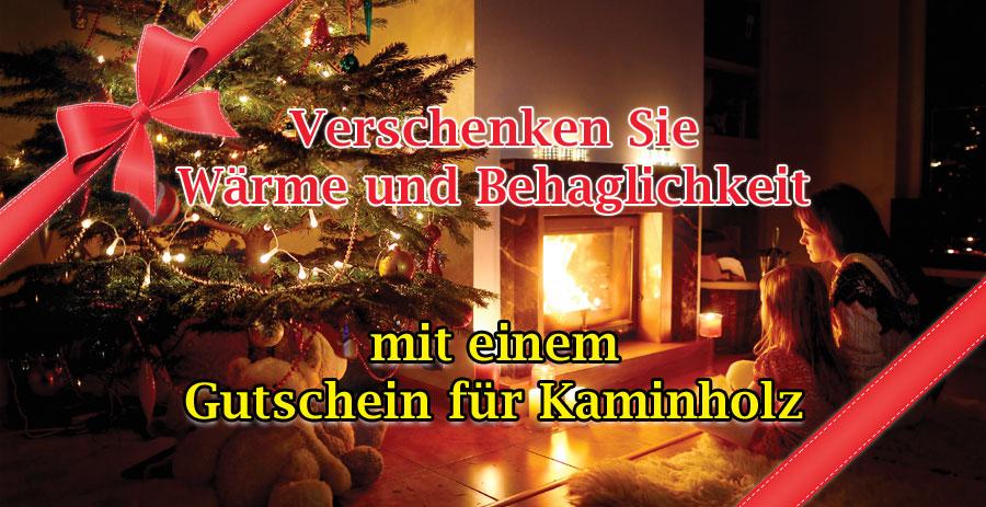 Gutschein für Brennholz Kaminholz